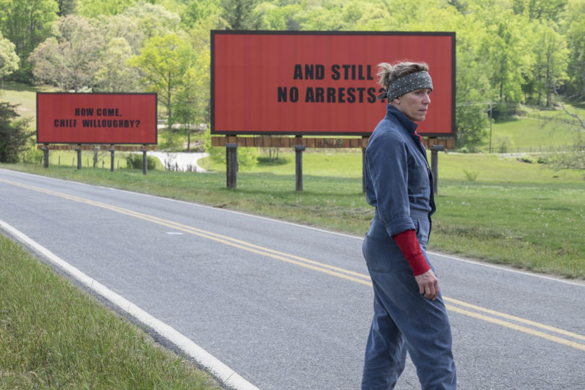 Three Billboards Outside Ebbing, Missouri (Martin McDonagh, 2017)